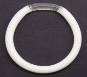 This ring, currently under development, can be inserted into the vagina to prevent both pregnancy and HIV transmission. Image: USAID