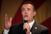U.S. Representative Trent Franks (R-Arizona) of the 8th congressional district speaking at the Arizona Republican Party 2014 election victory party at the Hyatt Regency in Phoenix, Arizona. Photo: Gage Skidmore
