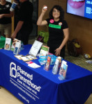 A Planned Parenthood Arizona volunteer at the Body Love Conference