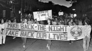 Take Back the Night rally in the 1980s. Photo: University of Wisconsin