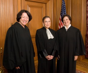 Sotomayor, Ginsburg, and Kagan: Sitting Supreme Court Justices