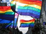 Pride flags in Reykjavík. Photo: Dave