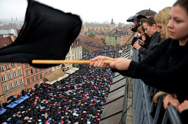 "Poland ""Black Monday"" protest. Photo: Janek Skarzynski/AFP/Getty Images"